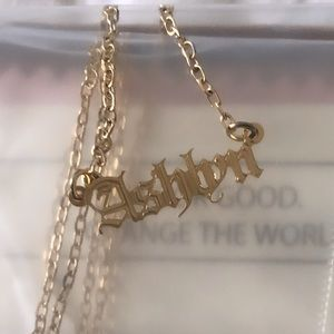 Personalized trendy old English font necklace